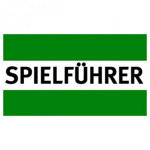Spielführer-Armbinden - grün/weiß