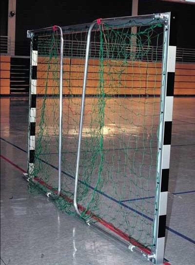 Hallenhandballtor 3x2 m, freistehend, mit anklappbaren Netzbügeln