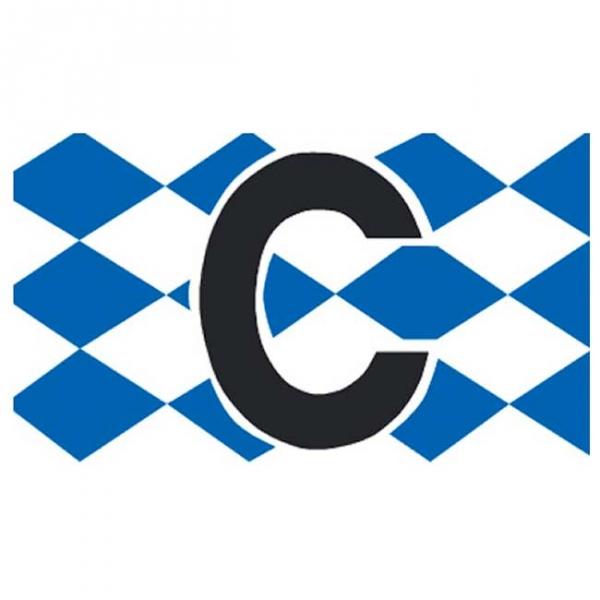 Spielführer-Armbinden C Rautendesign blau/weiß