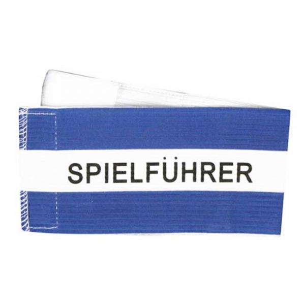 Spielführer-Klettarmbinde blau/weiß