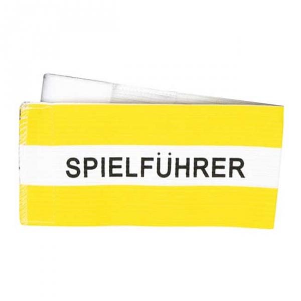 Spielführer-Klettarmbinde gelb/weiß