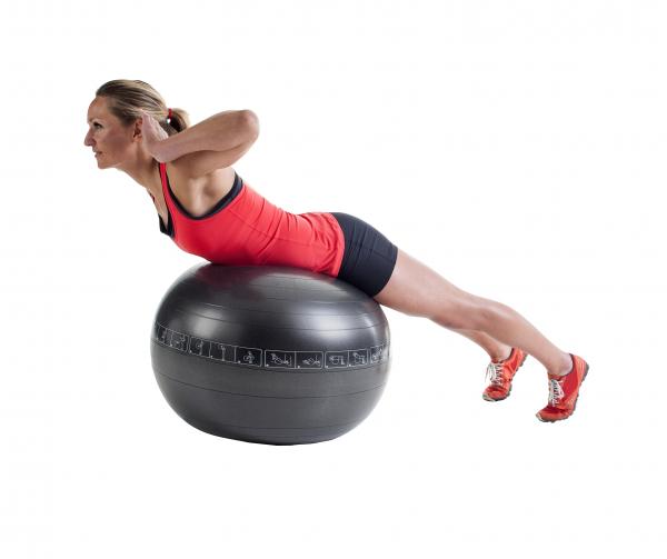 Gymnastikball. 65 cm, inkl. Handpumpe.