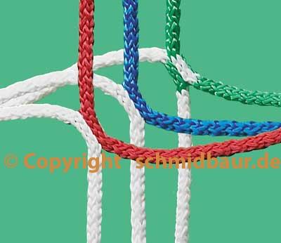 Fussball Tornetz in Vereinsfarben 0,8 / 1,5m, zweifarbig
