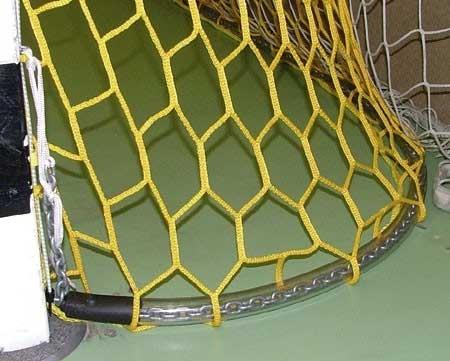 Kettenbeschwerung für Handball-Tornetze