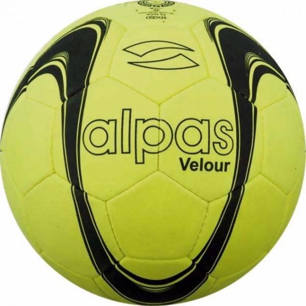 Hallenfußball INDOOR Velour, gelb