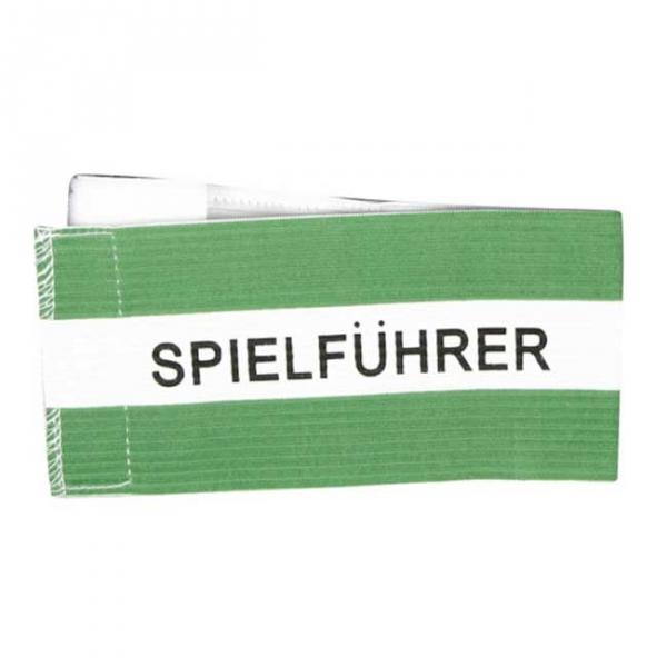 Spielführer-Klettarmbinde grün/weiß