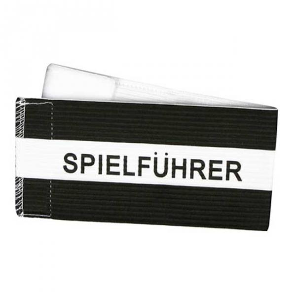 Spielführer-Klettarmbinde schwarz/weiß