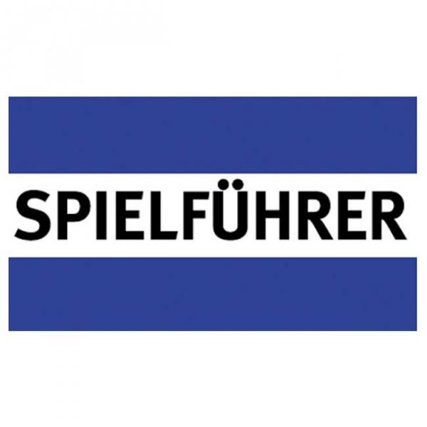 Spielführer-Armbinden - blau/weiß