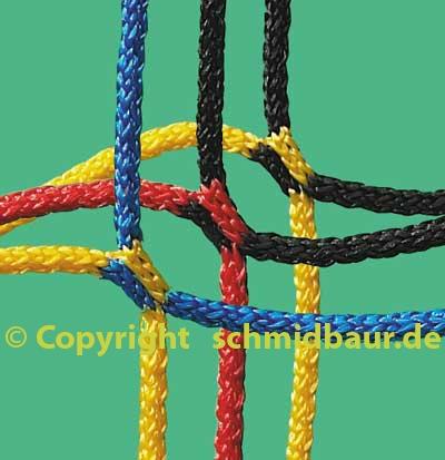 Fußball Tornetze in Vereinsfarben 2,0/2,0m zweifarbig