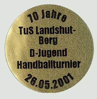 Thermotransferschild rund